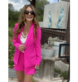 Ultra Pink Long Sleeve Blazer
