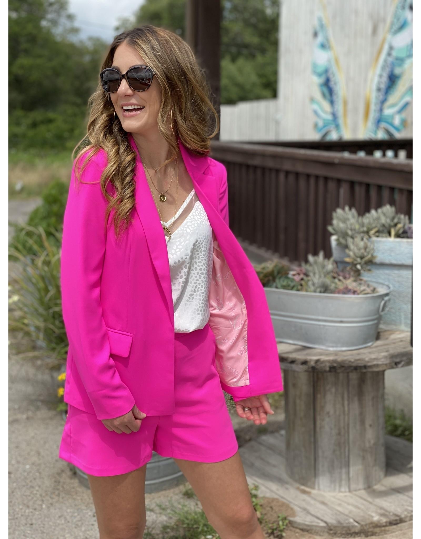 Ultra Pink Long Sleeve Blazer