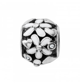 Brighton Love Blooms Bead Silver-White