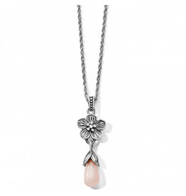 Brighton Sakura Breeze Teardrop Necklace Silver-Rose