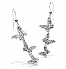 Brighton Solstice Bloom Butterfly French Wire Earrings