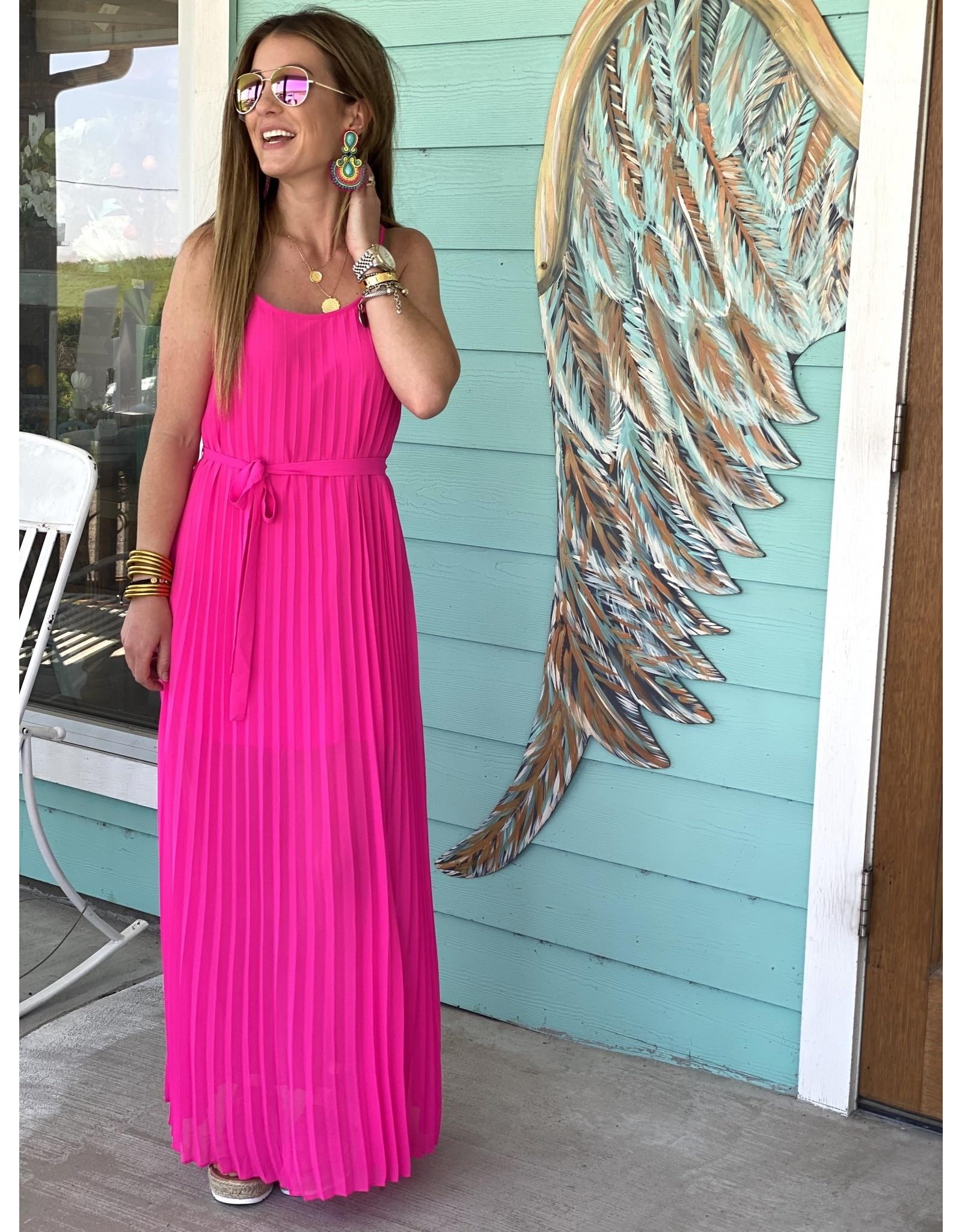 Ultra Pink Pleated Dress