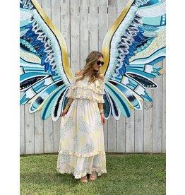 Dainty Print Chiffon Maxi Dress
