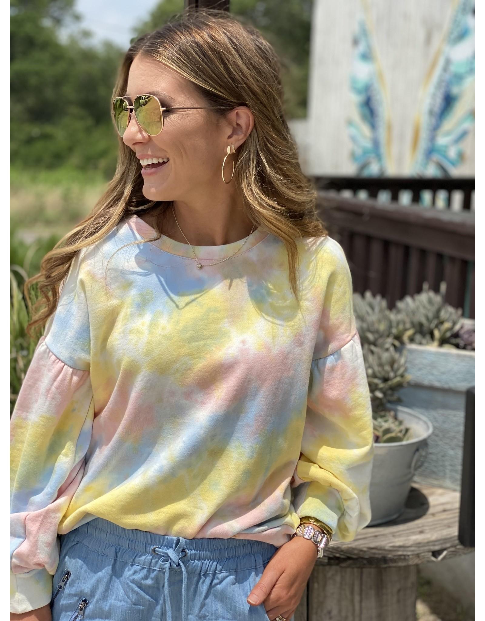 Yellow Multi Tie Dye Sweatshirt