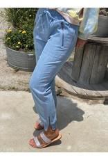 Light Blue Tencel Jogger Pants