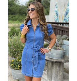 Denim Puff Sleeve Dress