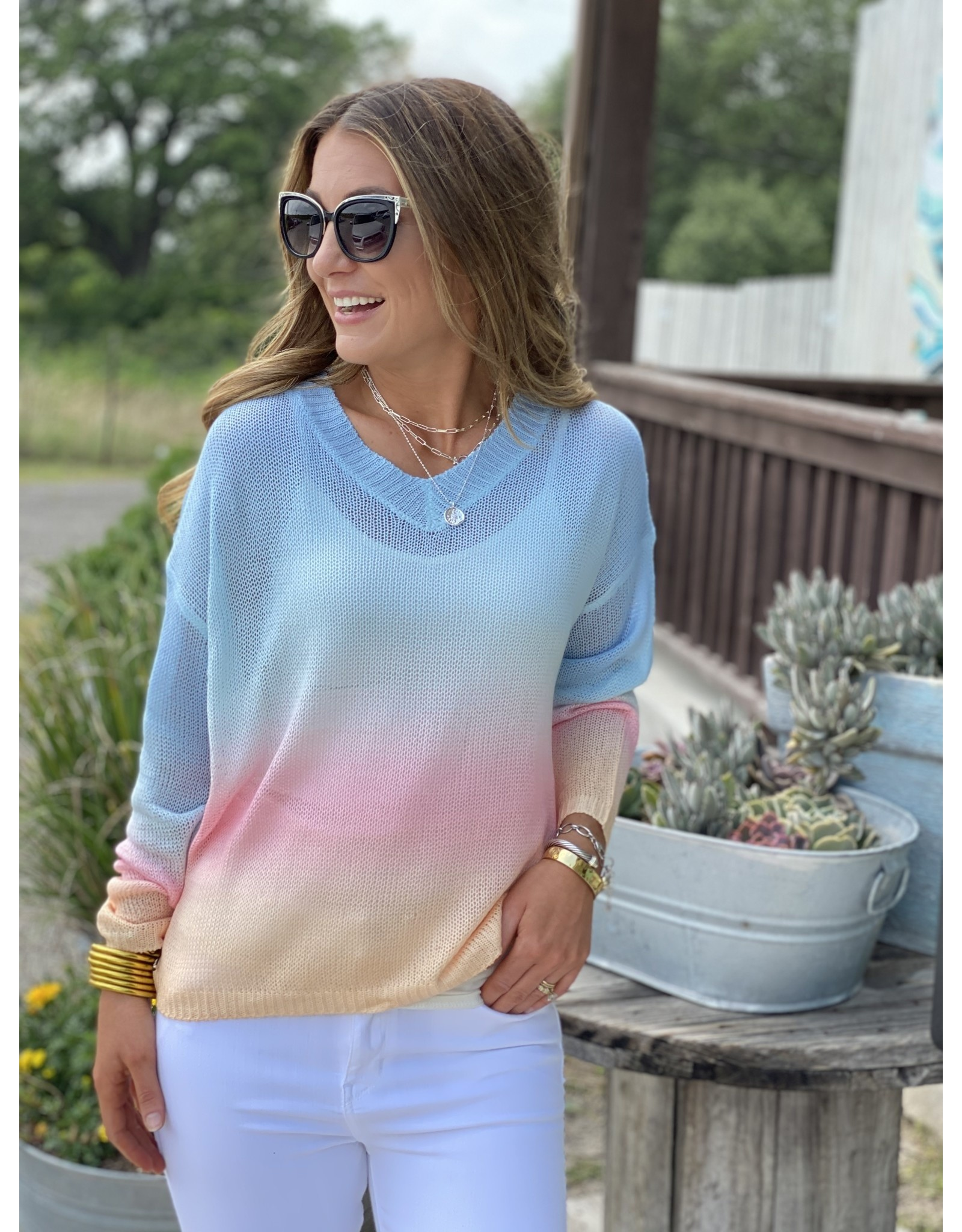 Blue Multi Gradient Light Sweater