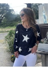 Navy Star Light Weight Sweater