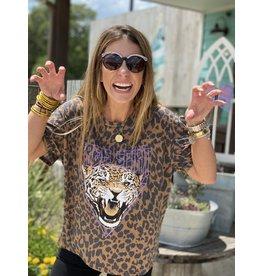Free Spirit Leopard Print Tee