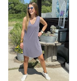 Another Love Charcoal Sleeveless Dress