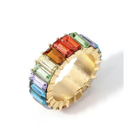 Multi Color Glass Ring