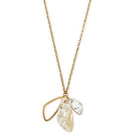 Kendra Scott Mckenna Charm Necklace V. Gold White Mix