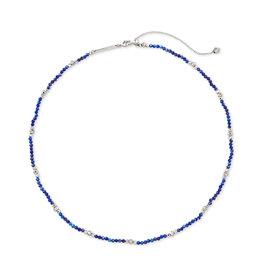 Kendra Scott Scarlet Choker Silver Blue Lapis