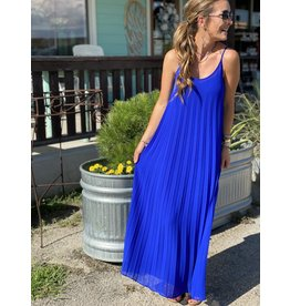 Royal Blue Pleated Maxi Dress