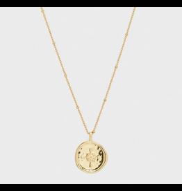 Gorjana Compass Coin Necklace Gold