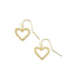 Kendra Scott Sophee Heart Drop Earring in Gold