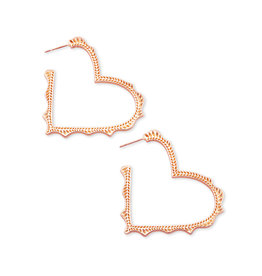 Kendra Scott Sophee Heart Hoop in Rose Gold