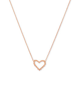 Kendra Scott Sophee Heart Small Pendant in Rose Gold