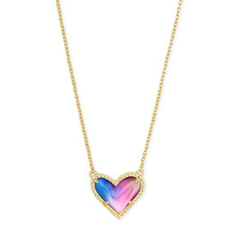 Kendra Scott Ari Heart Short Necklace Water Color Gold