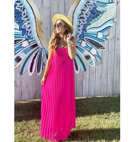 Ultra Pink Pleated Dress