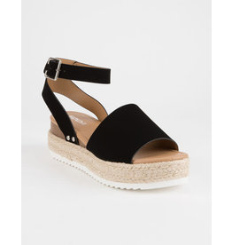 Topic Black Espadrille Sandal