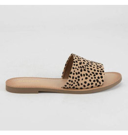 Cheetah Print Slide Sandals