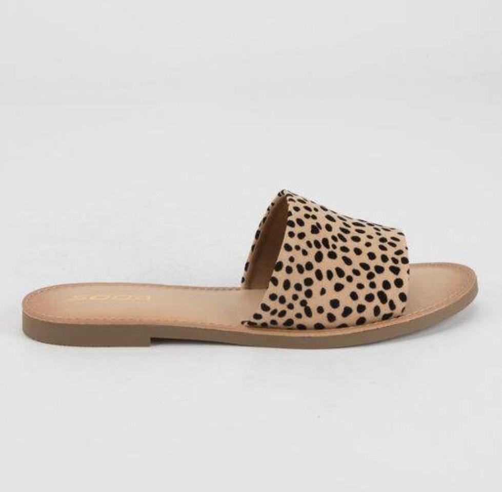 Cheetah Print Slide Sandals