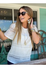 Ivory Lace Patterned Top