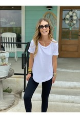 Another Love White Round Neck Tee