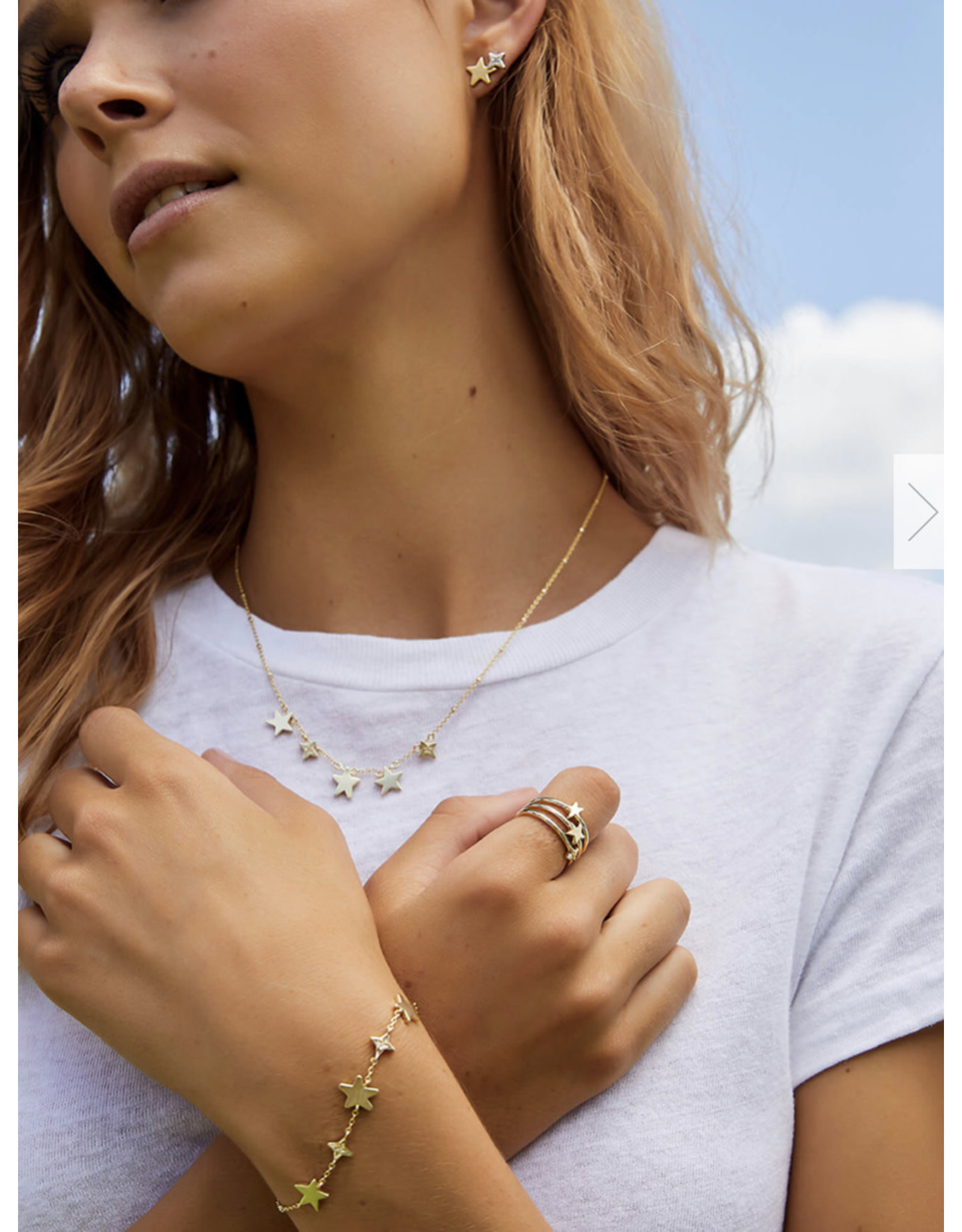 Kendra Scott Jae Star Delicate Bracelet Silver