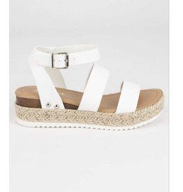 Bryce White Strap Sandal