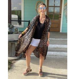 Leopard Print Blush Ombre' Kimono