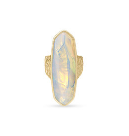 Kendra Scott Layla Ring Gold Opalite Size 6
