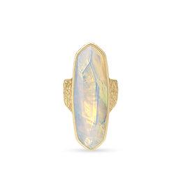 Kendra Scott Layla Ring Gold Opalite Size 8