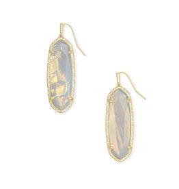 Kendra Scott Layla Earrings Gold Opalite Illusion