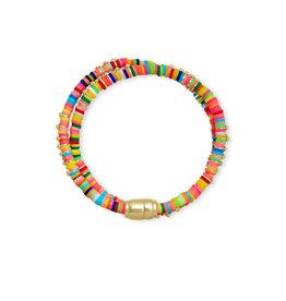 Kendra Scott Reece Wrap Bracelet Gold Neon Mix