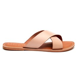 Pebble Sandal in Natural Leather