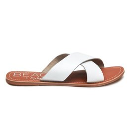 Pebble Sandal in White Leather