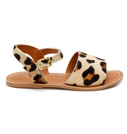 Kids Lil Cabana Sandal in Leopard CowHair