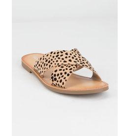 Cheetah Cross Strap Sandal