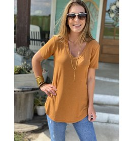 Another Love Megan V Neck Tee in Ginger