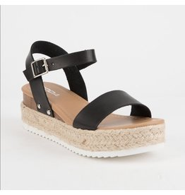 Clip Black Espadrille Sandals