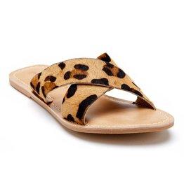 Pebble Leopard Cowhair Sandal
