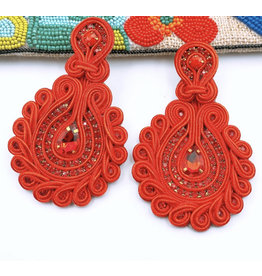 Treasure Jewels Debbie Red Earrings