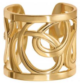 Brighton Gold Christo Vienna Wide Ring