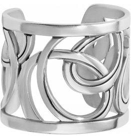Brighton Silver Christo Vienna Wide Ring