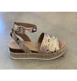 Topic Metallic Snake Espadrille Sandal