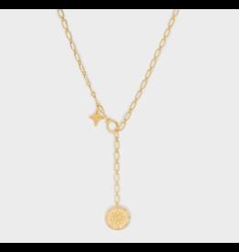 Gorjana Maya Coin Clasp Lariat Gold