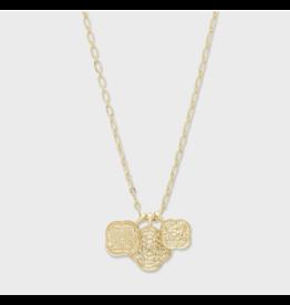 Gorjana Maya Mixed Coin Necklace Gold