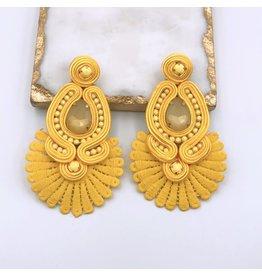 Treasure Jewels Sammy Yellow Eearrings